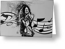 Janis In Black And White Greeting Card