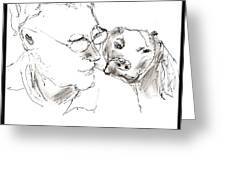 Jeff And Dog Greeting Card