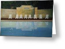 Jekyll Island Hotel Pool Greeting Card