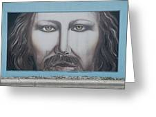Jesus On The Street Greeting Card