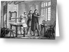 Johann Gutenberg, German Inventor Greeting Card