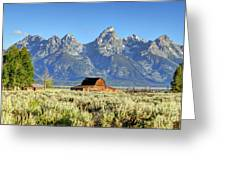John Moulton Barn - Grand Teton National Park Greeting Card