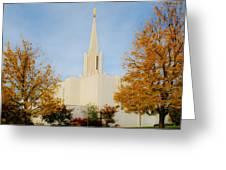 Jordan River Temple Greeting Card