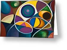 Juego Geometrico Greeting Card