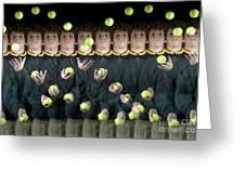 Juggler Greeting Card by Ted Kinsman