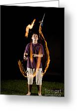 Juggling Fire Greeting Card