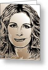 Julia Roberts In 2008 Greeting Card