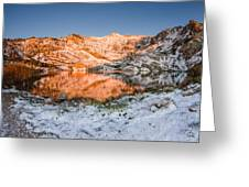 June Snowfall At Angel Lake Greeting Card