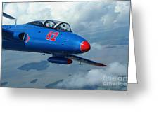 L-29 Delfin Standard Jet Trainer Greeting Card