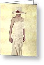Lady In White Dress Greeting Card by Joana Kruse