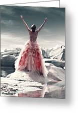 Lady On The Rocks Greeting Card by Joana Kruse