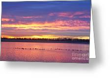 Lagerman Reservoir Sunrise Greeting Card