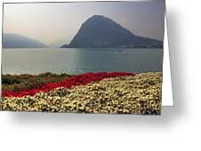 Lake Lugano - Monte Salvatore Greeting Card by Joana Kruse