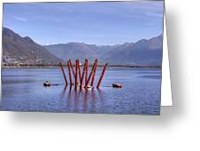 Lake Maggiore Locarno Greeting Card by Joana Kruse