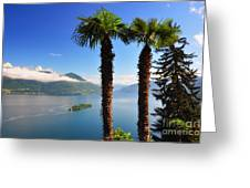Lake With Islands Greeting Card
