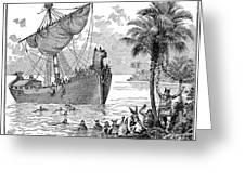 Landing Of Leif Ericsson Greeting Card