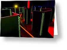 Laser Game Area With Obstacles Greeting Card by Corepics