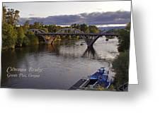 Last Light On Caveman Bridge Greeting Card