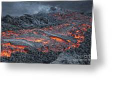 Lava Flow On The Flank Of Pacaya Greeting Card