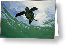 Leatherback Sea Turtle Dermochelys Greeting Card