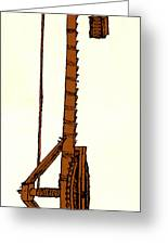 Leonardo Da Vincis Lifting Gear Greeting Card by Science Source