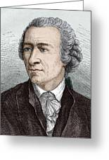 Leonhard Euler, Swiss Mathematician Greeting Card