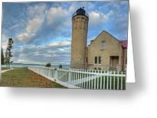 Lighthouse At Mackinac Greeting Card