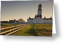 Lighthouse South Shields, Tyne And Greeting Card