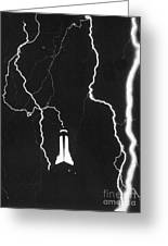 Lightning Strikes Empire State Greeting Card