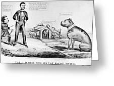 Lincoln: Cartoon, 1864 Greeting Card