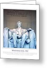 Lincoln Memorial Greeting Card by Jim McDonald Photography