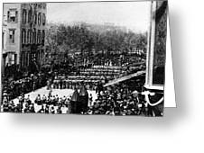 Lincolns Funeral Procession, 1865 Greeting Card by Photo Researchers