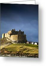 Lindisfarne Castle On A Volcanic Mound Greeting Card