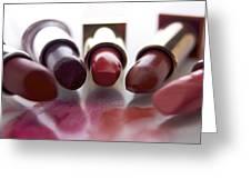 Lipsticks Greeting Card