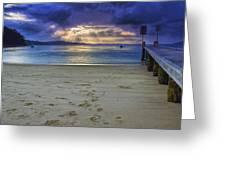 Little Beach Sunset Greeting Card