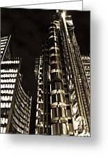 Lloyds Building London In Gold Greeting Card