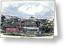 Locomotive Factory, C1855 Greeting Card