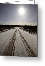 Logging Road In Winter Greeting Card