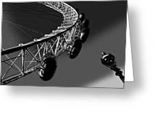 London Eye Digital Image Greeting Card