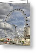 London Skyline Edf Eye  Greeting Card