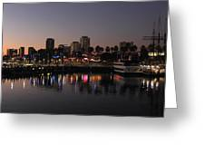 Long Beach Harbor Greeting Card