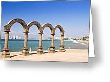 Los Arcos Amphitheater In Puerto Vallarta Greeting Card