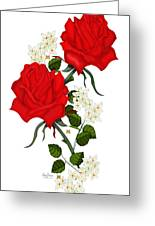 Love Is Like A Red Red Rose Greeting Card
