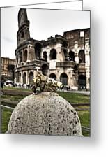 love locks in Rome Greeting Card