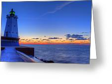 Ludington Michigan Lighthouse Greeting Card