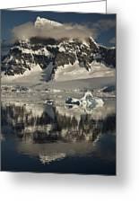 Luigi Peak Wiencke Island Antarctic Greeting Card by Colin Monteath