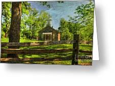 Lutz-franklin Schoolhouse Greeting Card