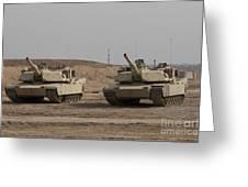 M1 Abrams Tank At Camp Warhorse Greeting Card