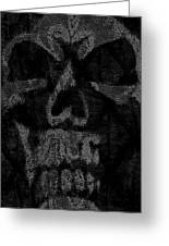 Macabre Skull Greeting Card
