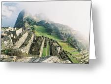 Machu Picchu In The Fog Greeting Card